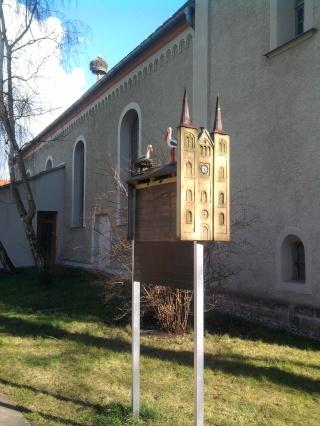 04-05; Elbe; Frohse; Kirchentagebuch mit Storch