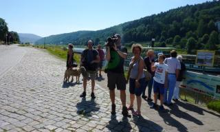 08-03; Elbe Tschechien; Bad Schandau; Filmteam 03