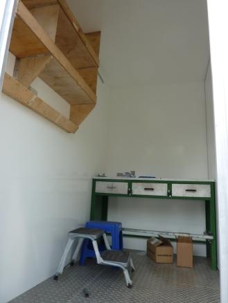 Die neue Werkstatt. Etwas kleiner als vorher