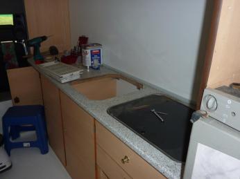 Die Küche im Blick nach vorne