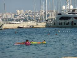 Baden mit Blick auf die Skyline von Split