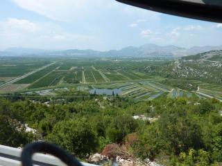 Von oben wie die Reisfelder in Vietnam