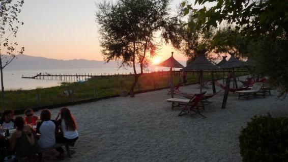 Sonnenuntergang über dem Skutarisee