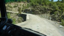 Brücke aus Sicht der Beifahrerin