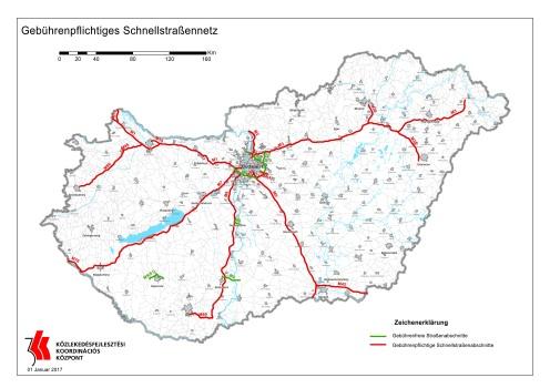 Mautpflichtige Schnellstraßen und Autobahnen in Ungarn