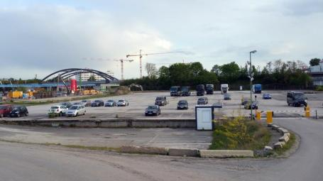 Estrel Parkplatz, der Stellplatz © bei Steffi Pilz