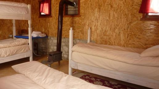 Die Zimmer in der Hütte