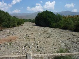 Dieses Jahr ausgetrocknete Flussbetten