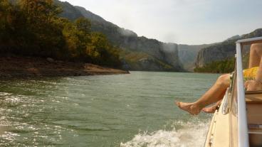 Die Schlucht am Staudamm