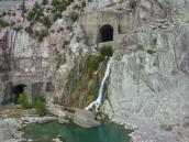 Überlauf des Staudammes
