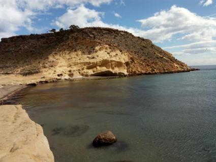 Sandfarbene Felsen, wunderschön