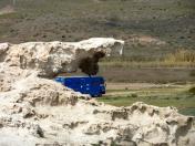 Fels frisst Big Blue (oder kotzt ihn aus)