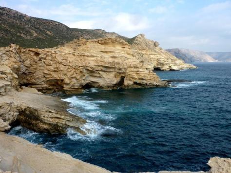 Wasserspiele in den Felsen