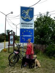 Der Eingang nach Zahorska Ves
