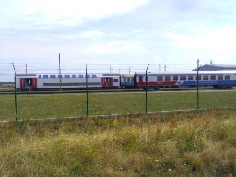 Waggons von der italiensichen Eisenbahn