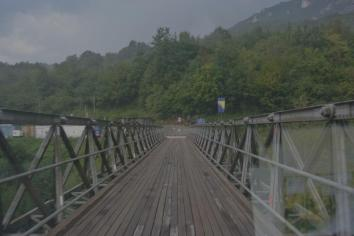 Die Grenzbrücke. Ob die hält?